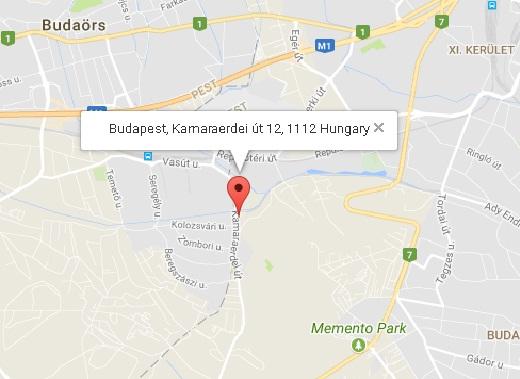 Kamaraerdei térkép